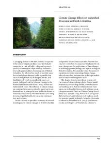 Climate Change Effects on Watershed Processes in