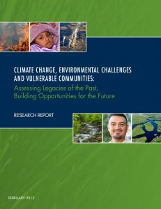 climate change, environmental challenges and vulnerable communities