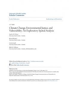 Climate Change, Environmental Justice, and Vulnerability: An ...