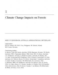 Climate Change Impacts on Forests