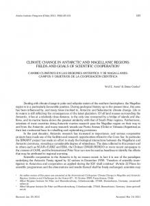 climate change in antarctic and magellanic regions - SciELO