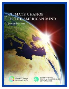 climate change in the american mind - Center For Climate Change ...