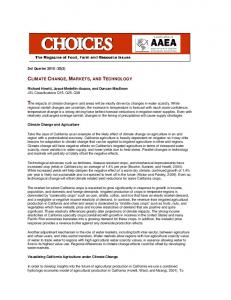 climate change, markets, and technology - AgEcon Search