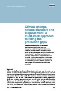 Climate change, natural disasters and displacement - International ...