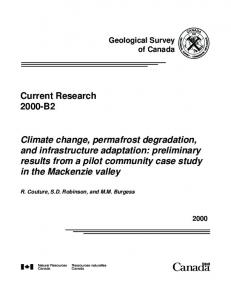 Climate change, permafrost degradation, and infrastructure adaptation ...