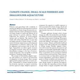 ClimAte ChAnge, smAll-sCAle fisheries And ...