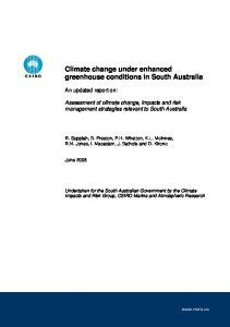 Climate change under enhanced greenhouse conditions in South ...