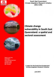 Climate change vulnerability in South East ... - Griffith University