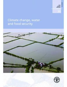 Climate change, water and food security - FAO