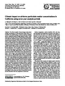 Climate impact on airborne particulate matter ... - CiteSeerX