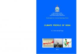 climate profile of india - India Environment Portal