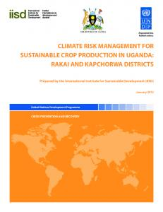climate risk management for sustainable crop production in uganda