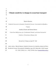 Climate sensitivity to changes in ocean heat transport