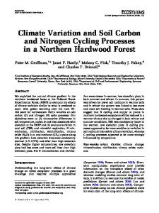 Climate Variation and Soil Carbon and Nitrogen Cycling Processes in ...