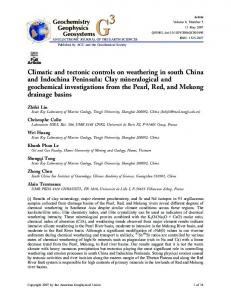 Climatic and tectonic controls on weathering in ... - Wiley Online Library