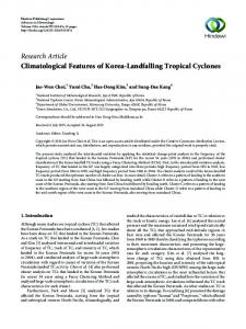 Climatological Features of Korea-Landfalling Tropical Cyclones
