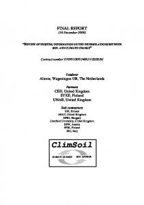 CLIMSOIL Final Report 16 december 2008 - CiteSeerX