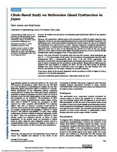 Clinic-Based Study on Meibomian Gland Dysfunction ...