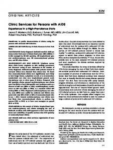 Clinic Services for Persons with AIDS - Wiley Online Library