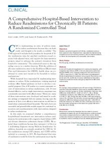 CLINICAL A Comprehensive Hospital-Based Intervention to Reduce ...
