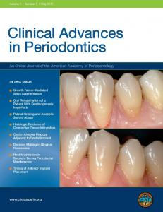 Clinical Advances in Periodontics