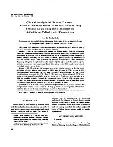 Clinical Analysis of Behcet Disease - The Korean Journal of Internal ...