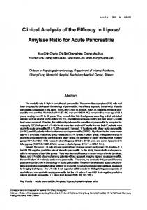 Clinical Analysis of the Efficacy in Lipase/ Amylase ... - Semantic Scholar