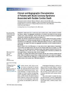 Clinical and Angiographic Characteristics of Patients with Acute ...