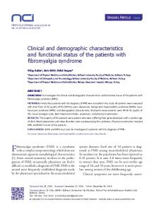 Clinical and demographic characteristics and