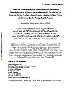 Clinical and Echocardiographic Characteristics and ...