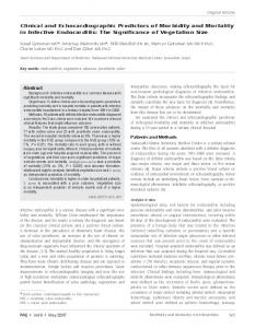 Clinical and Echocardiographic Predictors of Morbidity and Mortality in ...
