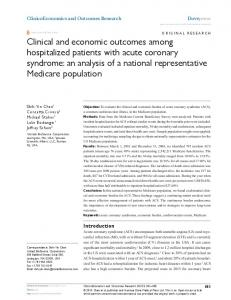 Clinical and economic outcomes among hospitalized patients with ...