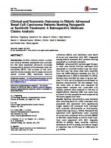 Clinical and Economic Outcomes in Elderly Advanced Renal Cell ...