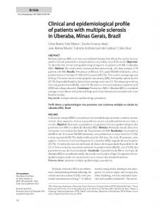 Clinical and epidemiological profile of patients with multiple sclerosis ...