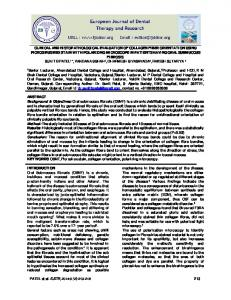 clinical and histopathological evaluation of collagen ...