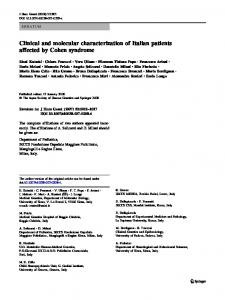 Clinical and molecular characterization of Italian ... - Springer Link