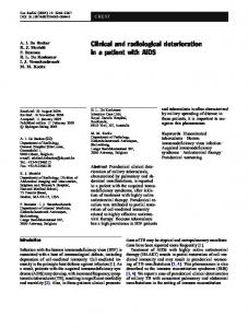 Clinical and radiological deterioration in a patient with ... - Springer Link