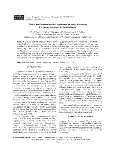 Clinical and Serobiochemical Studies on Naturally-Occurring ...