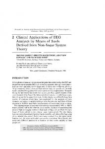 Clinical Applications of EEG Analyses by Means of ...
