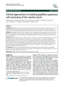 Clinical approaches to treating papillary squamous cell carcinoma of ...