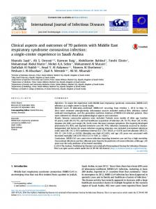 Clinical aspects and outcomes of 70 patients with Middle East ...