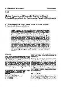 Clinical Aspects and Prognostic Factors in Elderly ... - Springer Link