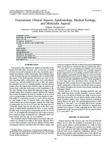 Clinical Aspects, Epidemiology, Medical Ecology, and Molecular Aspects