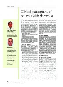 Clinical assessment of patients with dementia - ACNR