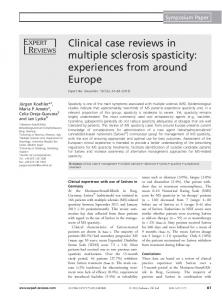 Clinical case reviews in multiple sclerosis spasticity