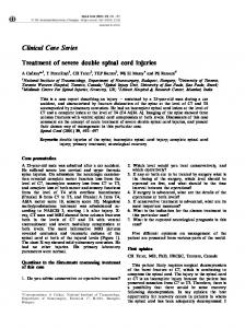 Clinical Case Series Treatment of severe double spinal cord ... - Nature