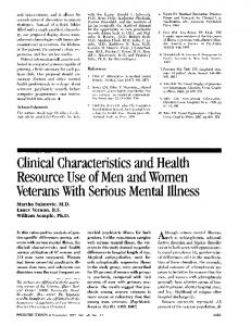 Clinical Characteristics and Health Resource Use of ...
