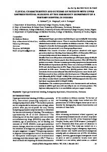 clinical characteristics and outcome of patients ... - Semantic Scholar