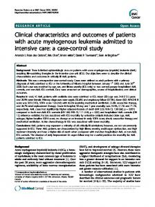Clinical characteristics and outcomes of patients with ... - Springer Link
