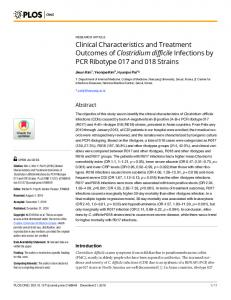 Clinical Characteristics and Treatment Outcomes ... - Semantic Scholar